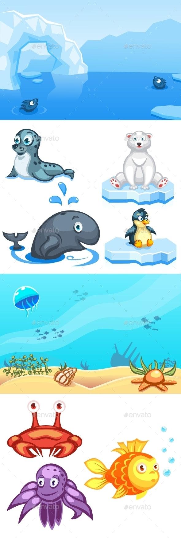 Cartoon Animals Pack-2 - Animals Characters