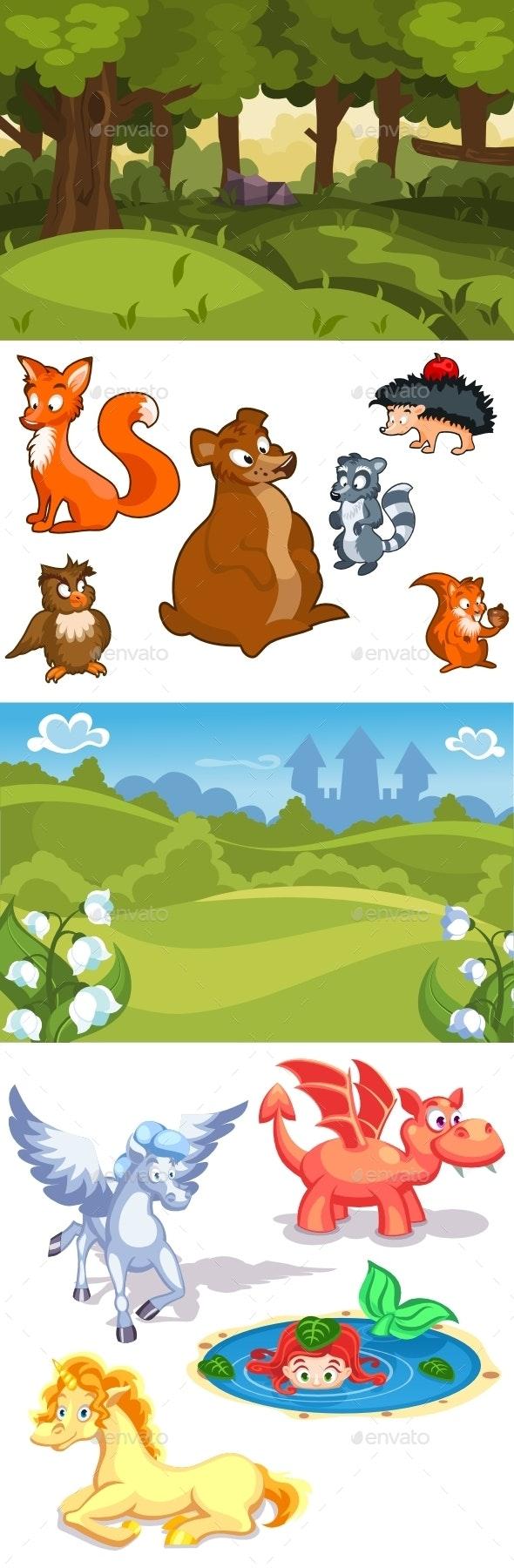 Cartoon Animals Pack-1 - Animals Characters