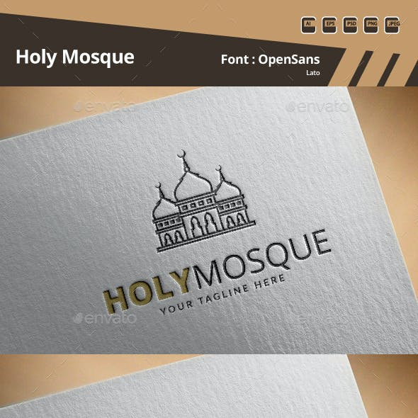 Holy Mosque Logo Template