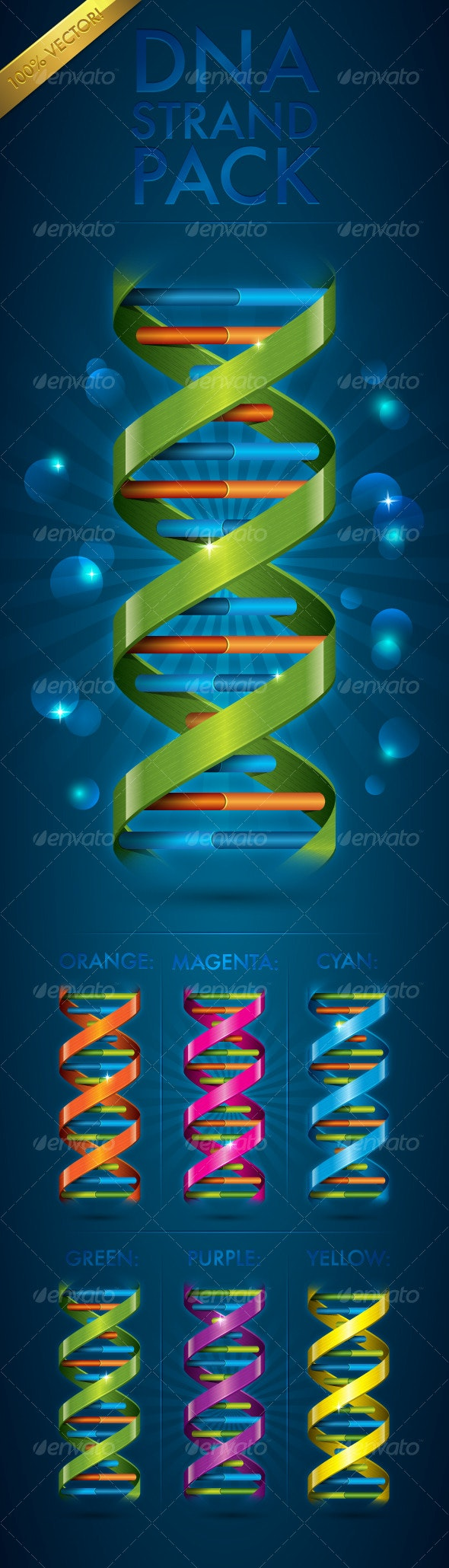 DNA Strand Pack - Organic Objects Objects