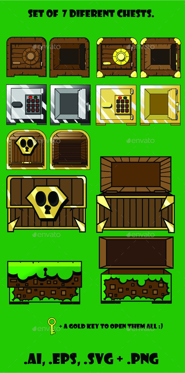 7 Chests for any Game - Miscellaneous Game Assets