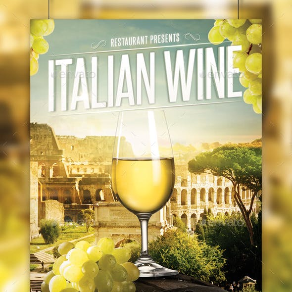 Italian Wine Flyer Template
