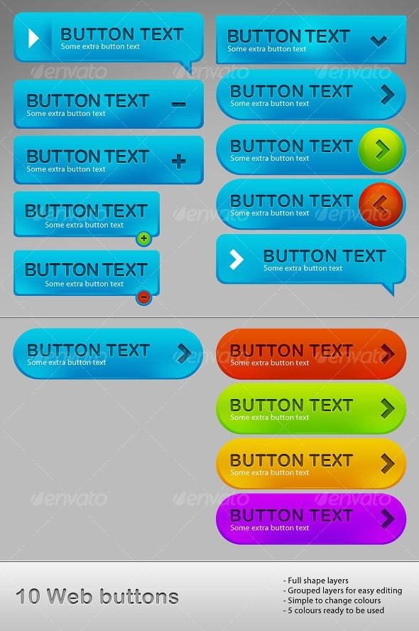 Web Button Collection - Web Elements
