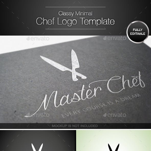 Classy and Minimal Chef Knife Logo Template