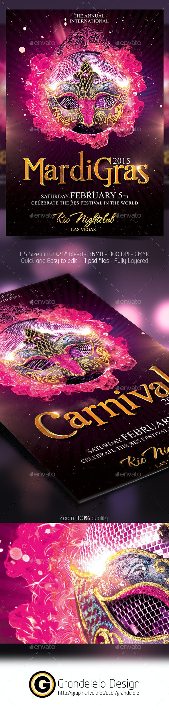 The Carnival 2015 Flyer Template - Clubs & Parties Events