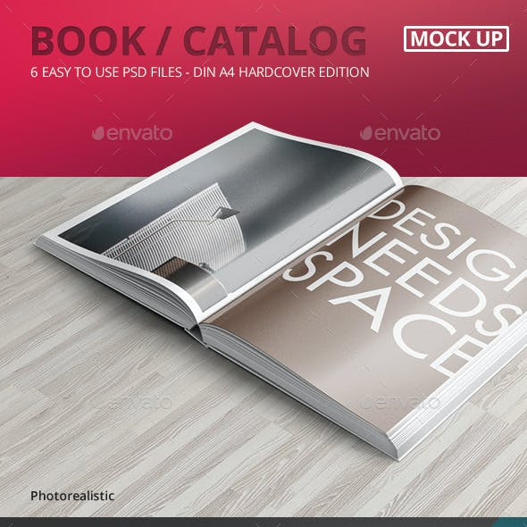 Book / Catalog Mock-Ups Hardcover Edition