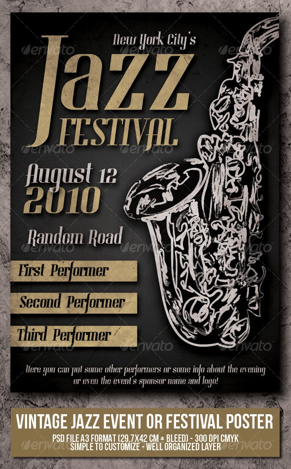 Jazz Event - Festival Poster - Concerts Events