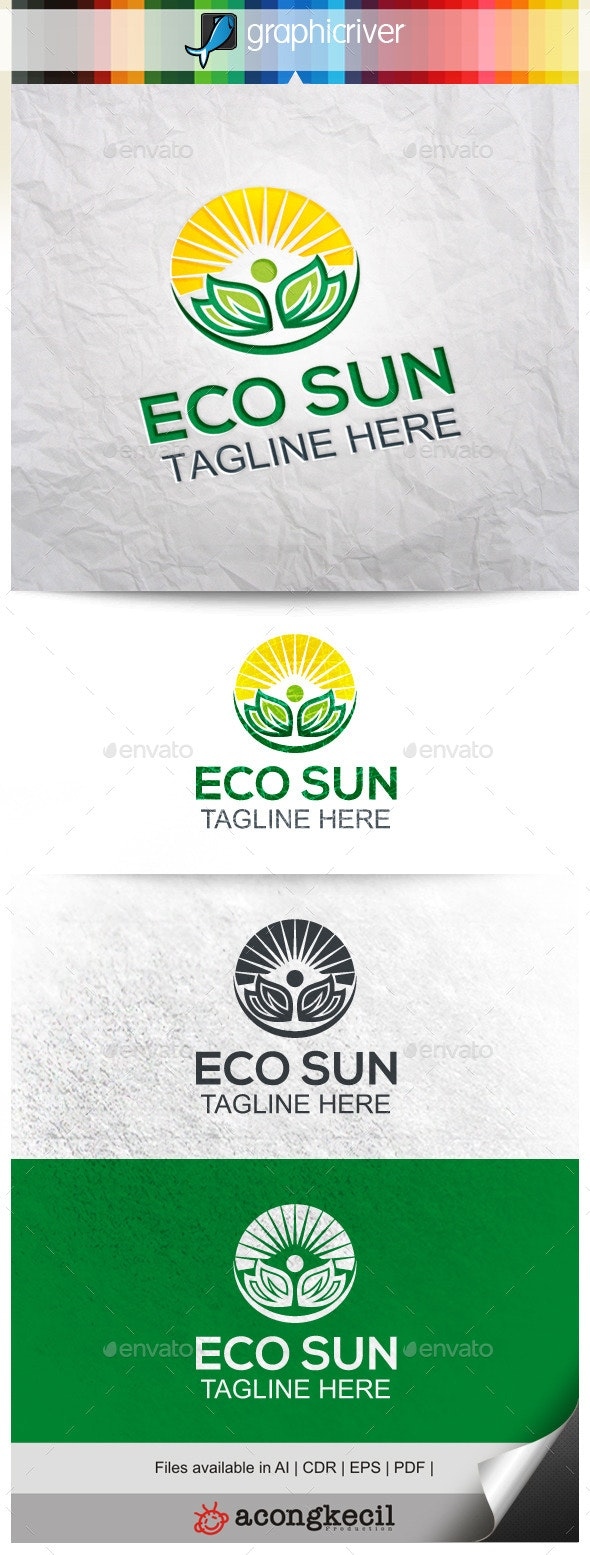 Eco Sun - Nature Logo Templates