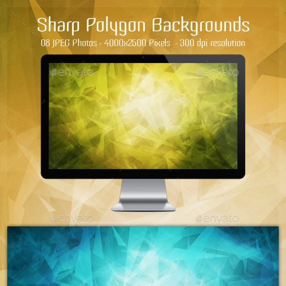 Sharp Polygon Backgrounds