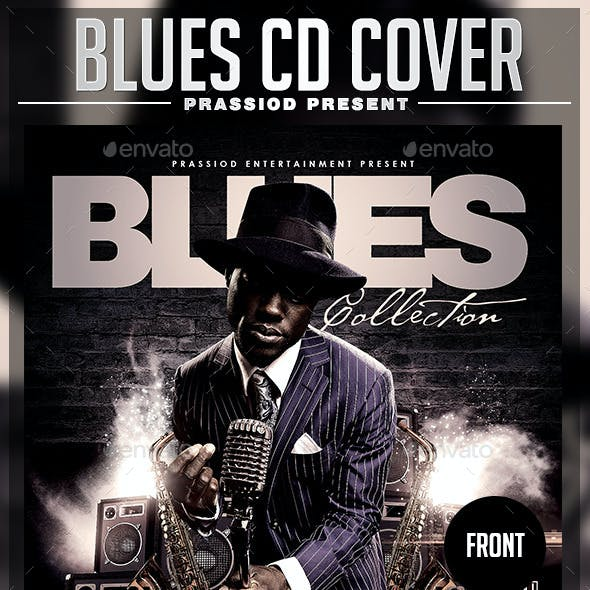 Blues CD Cover Template