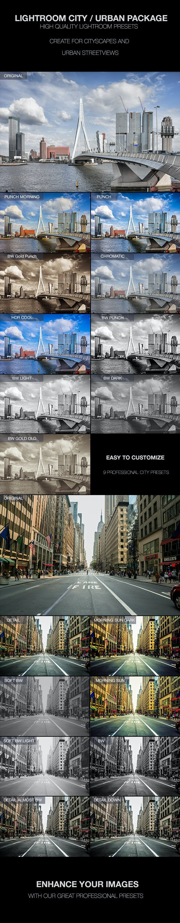 Cityscape and Urban Lightroom Presets - Landscape Lightroom Presets