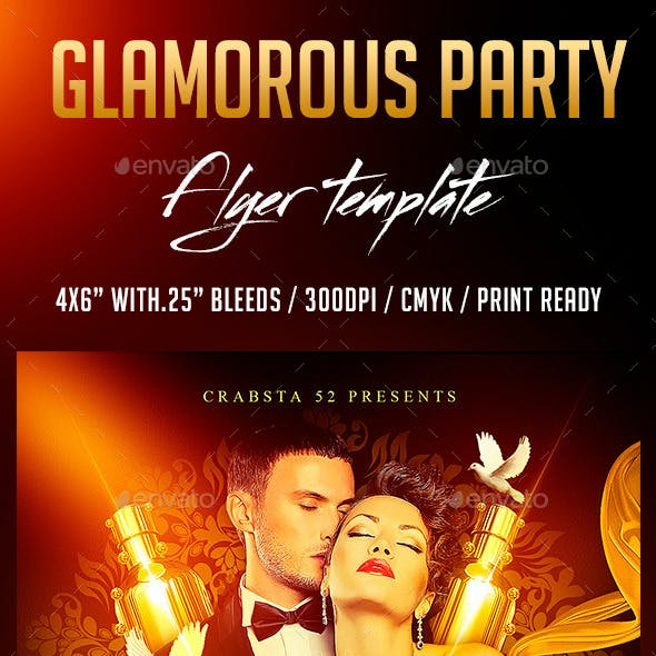 Glamorous Party Flyer Template