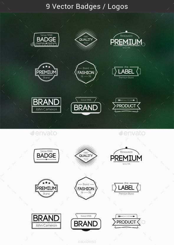 Modern Web Badges - Badges & Stickers Web Elements
