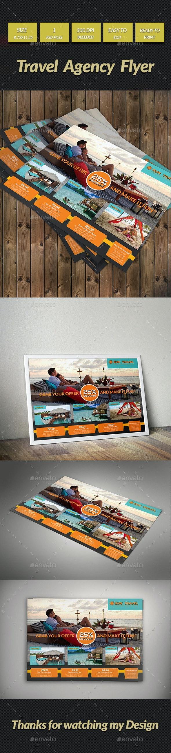 Travel Agency Flyer (Horizontal) - Commerce Flyers