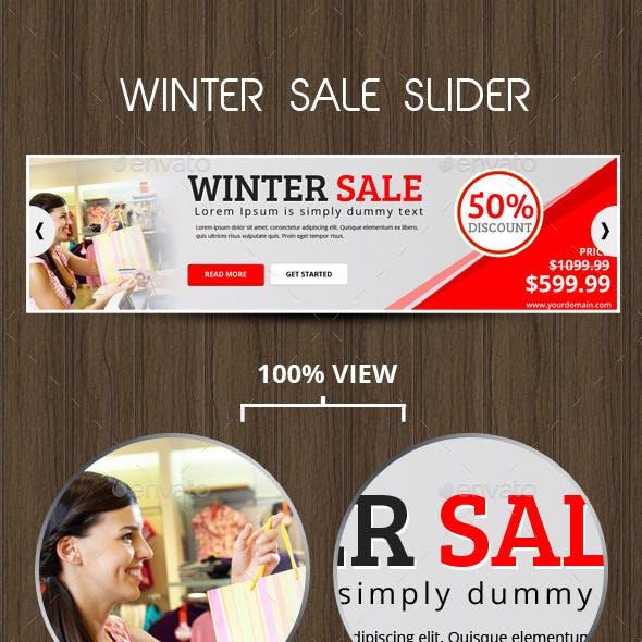 Winter Sale Slider