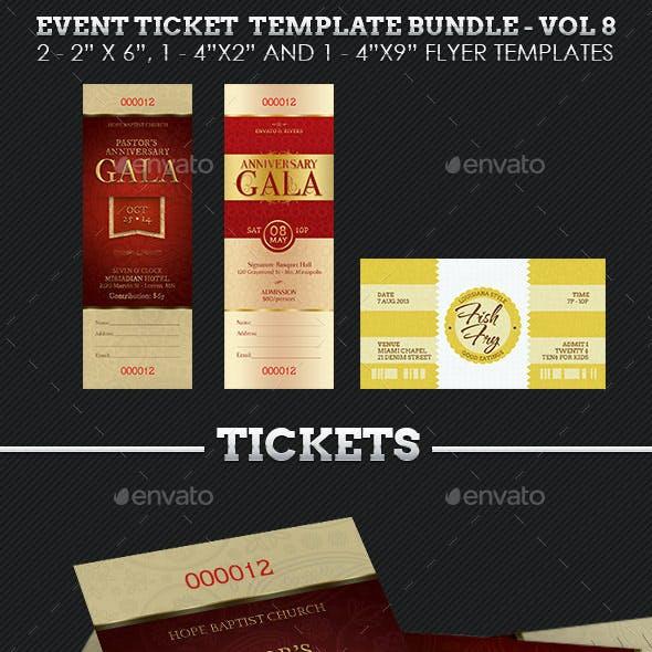 Event Ticket Template Bundle - Volume 8