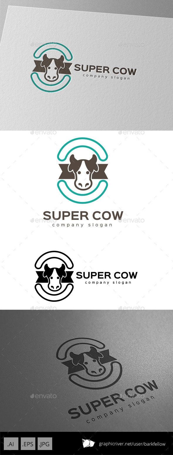 Super Cow Milk Logo Design