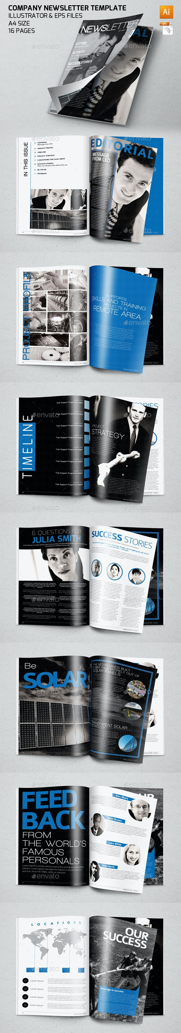 Company Newsletter Template - Newsletters Print Templates