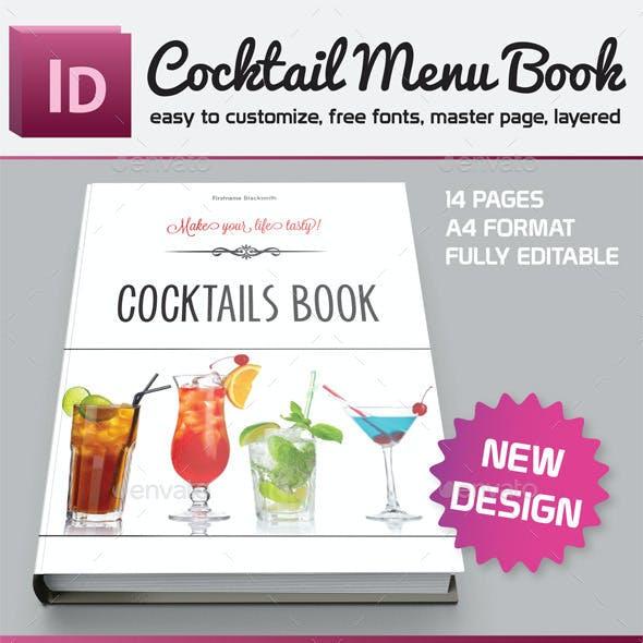 Cocktail Menu Book