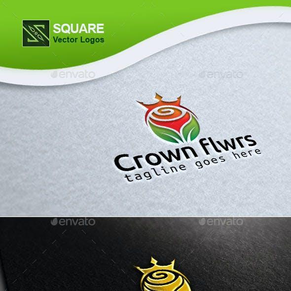 Crown Flower Custom Logo Template