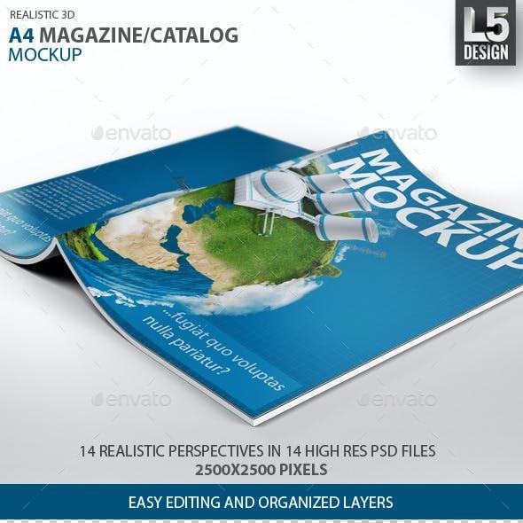 A4 Magazine / Catalog Mock-Up