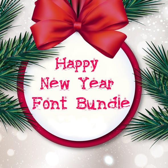 Happy New Year Font Bundle