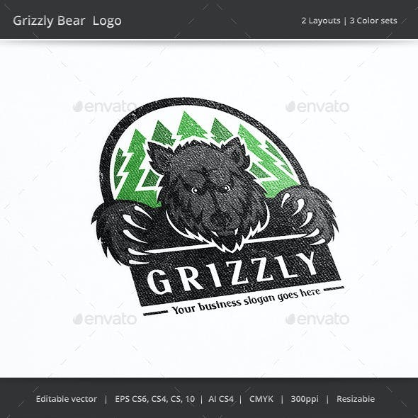 Grizzly Bear Forest Logo