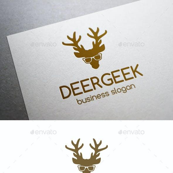 Deer Geek Animal Logo