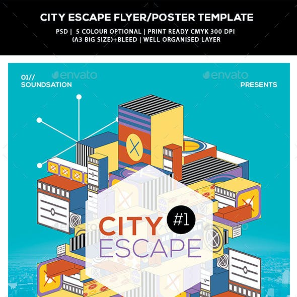 Abstract Flyer/Poster Templates - City Escape