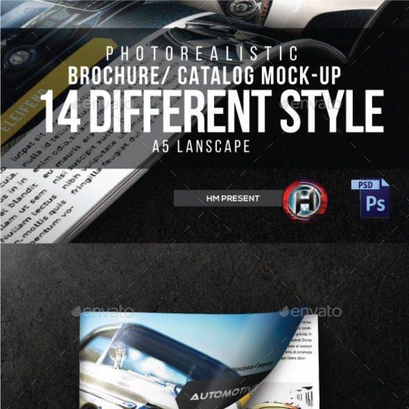 14 lanscape Brochure Mock-Ups