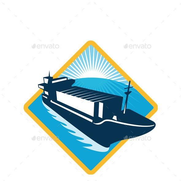 Container Ship Retro Diamond