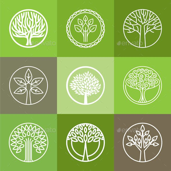 Tree Logo Set