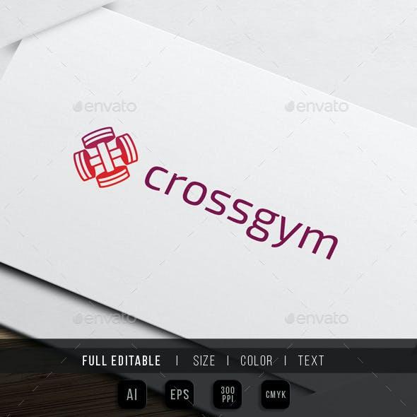 Cross Gym - Barbell Fitness Logo
