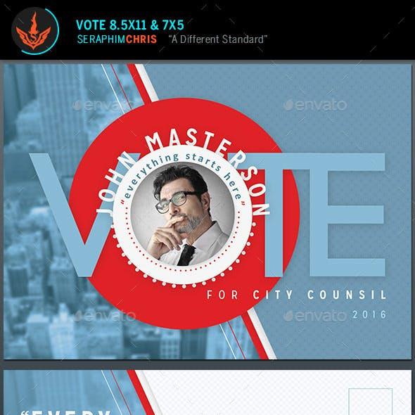 Vote Political Flyer Mailer Template