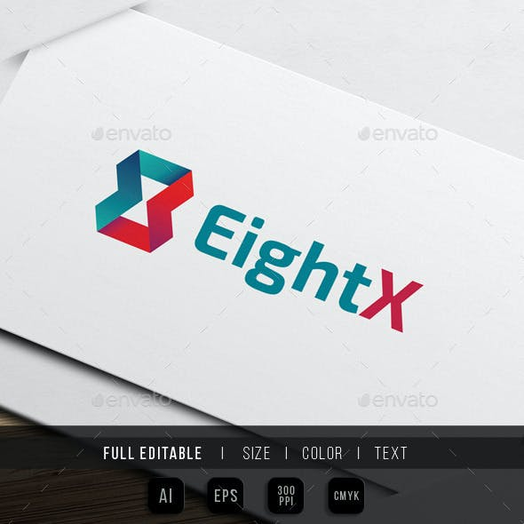 Eight x - Ribbon - Feedback Logo