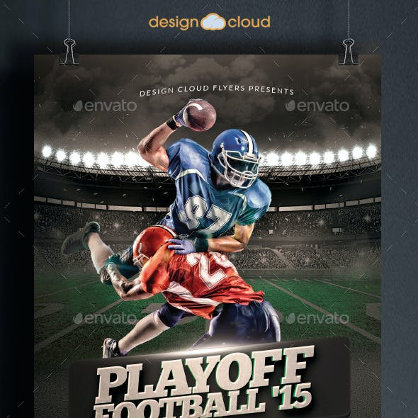 Playoff Football Flyer Template