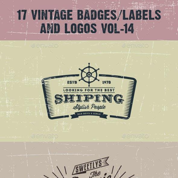 17 Vintage Badges/labels and Logos Vol-14
