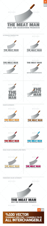 The Mean Man - Food Logo Templates