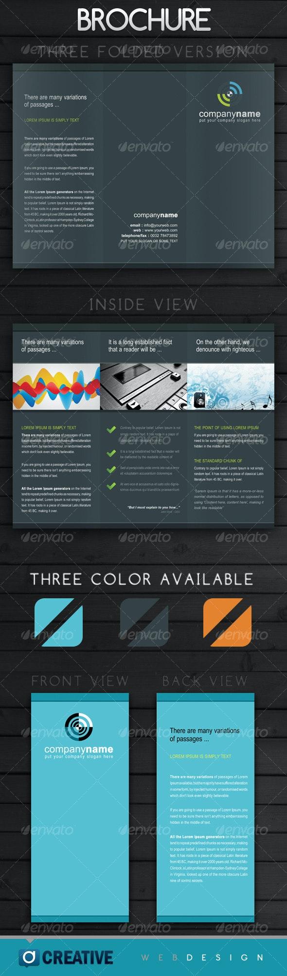 Tri Folded Business Brochure - Corporate Brochures