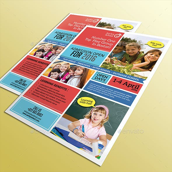 School Flyer + Roll Up Banner