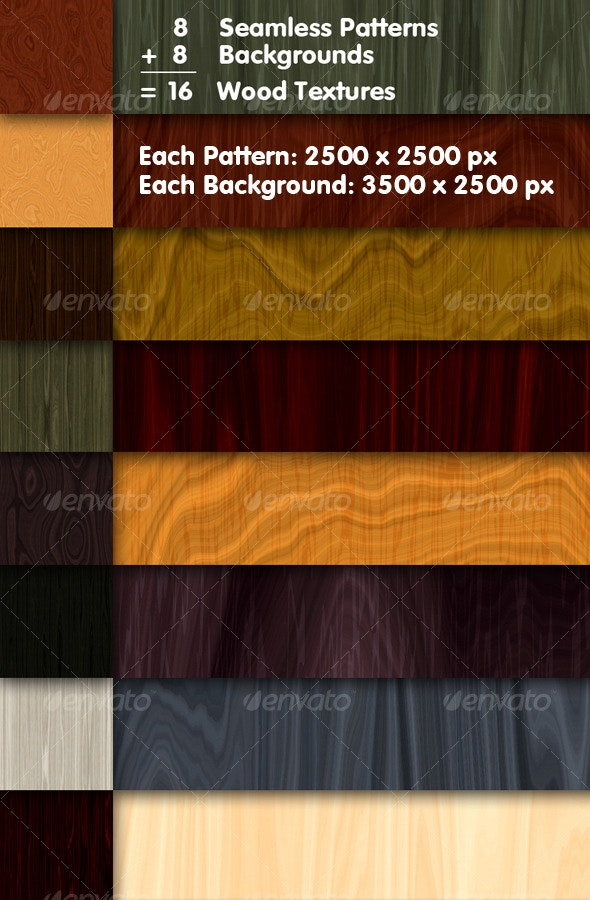 16 Wood Textures Collection - Wood Textures