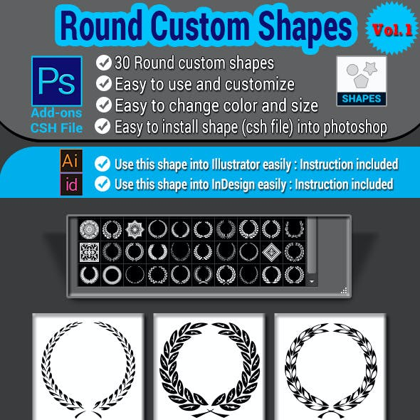 Round Custom Shapes Vol.1
