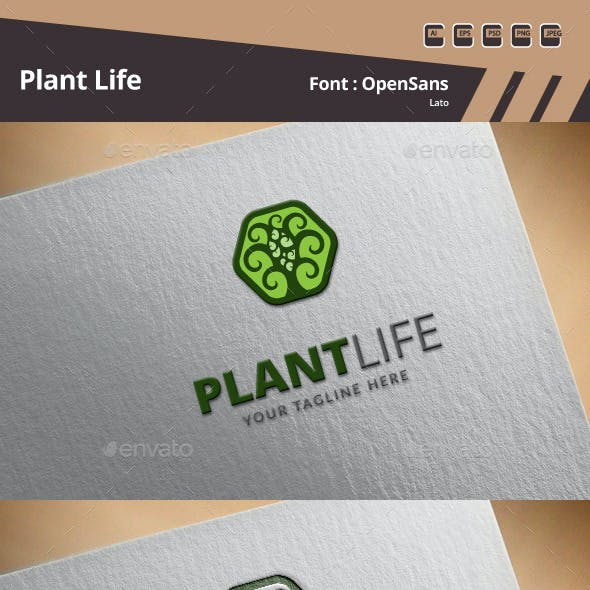 Plant Life Logo Template