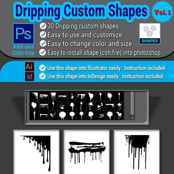 Dripping Custom Shapes Vol.1