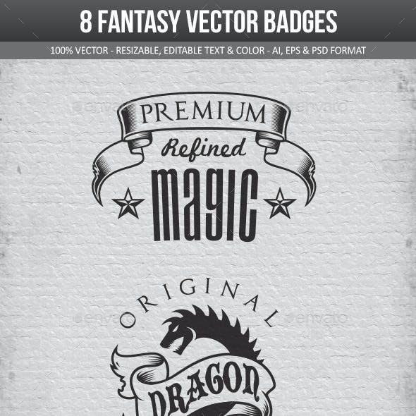 Fantasy Vector Badges Pack