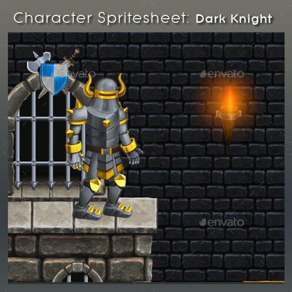 Character Spritesheet: Dark Knight