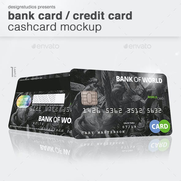 Bank Card / Credit Card CashCard Mock-Up