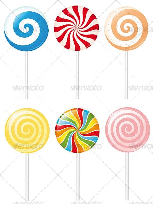 Creamy lollipops - Food Objects
