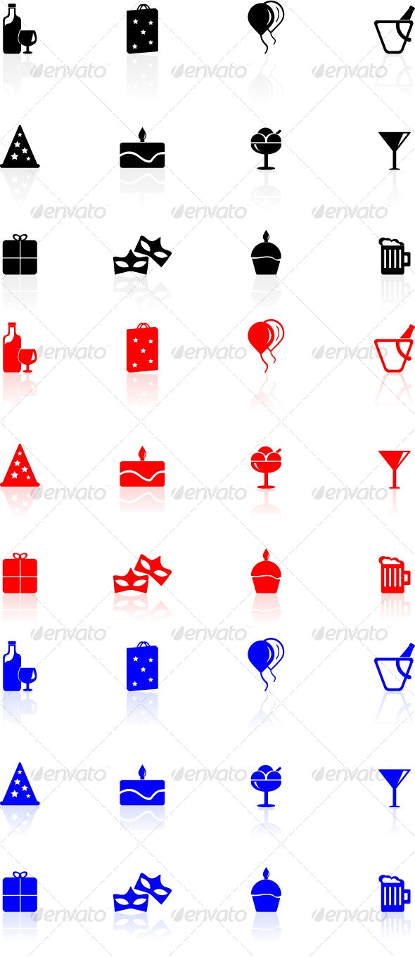 Birthday Icons Set - Web Icons