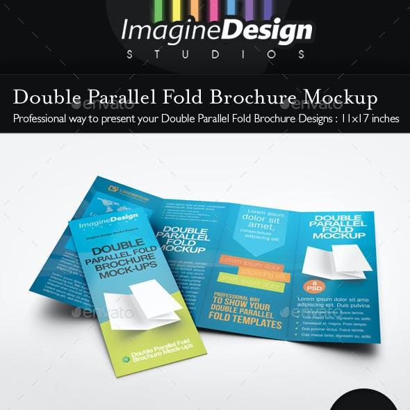 Double Parallel Fold Brochure Mockup